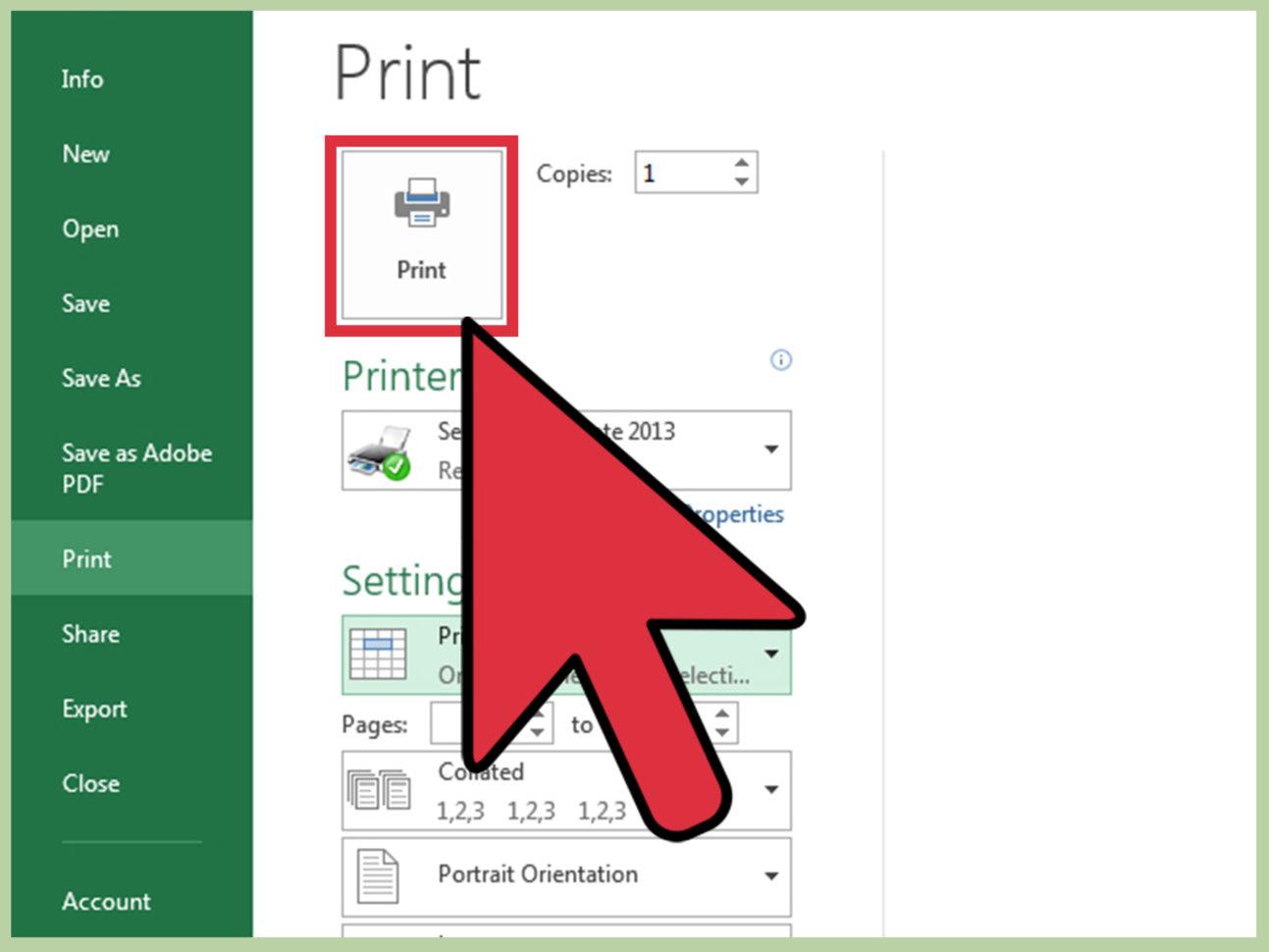 Spreadsheet Deutsch With Regard To 3 Ways To Print Part Of An Excel Spreadsheet  Wikihow