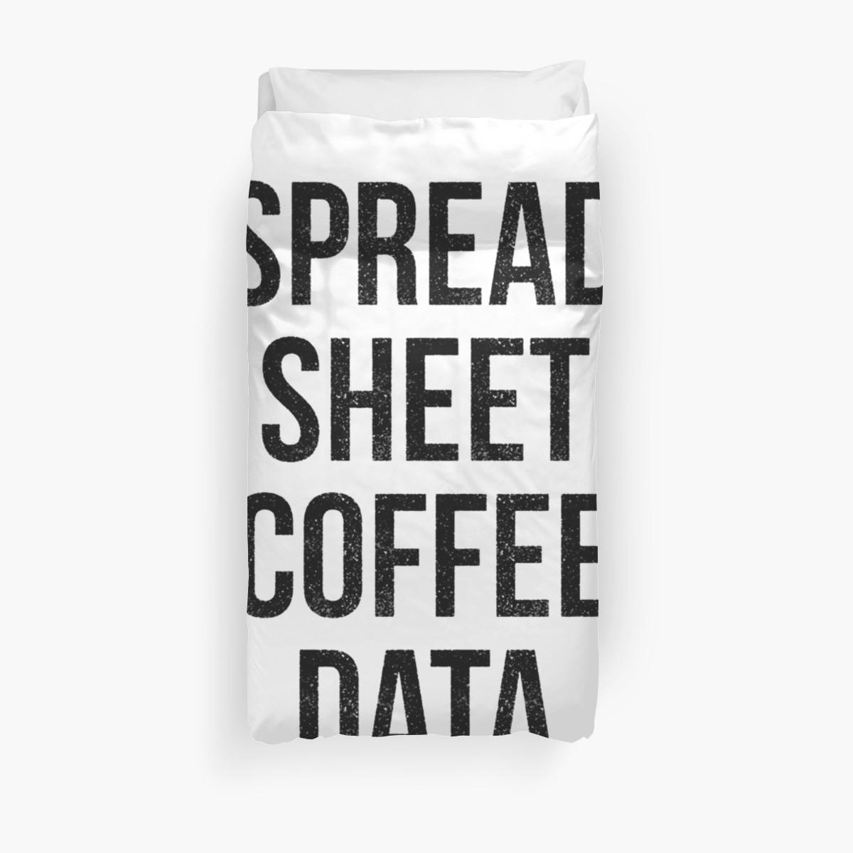 "Spreadsheet Duvet Cover Pertaining To Spreadsheet Coffee Data"" Duvet Coverscurtis Cunningham  Redbubble"