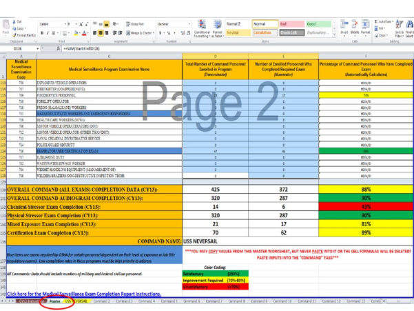 Spreadsheet Exam Pertaining To Medical Surveillance Exam Completion Report Instructions  Ppt Download