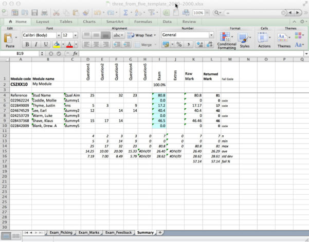 Spreadsheet Exam Regarding Mfa Exam Templates