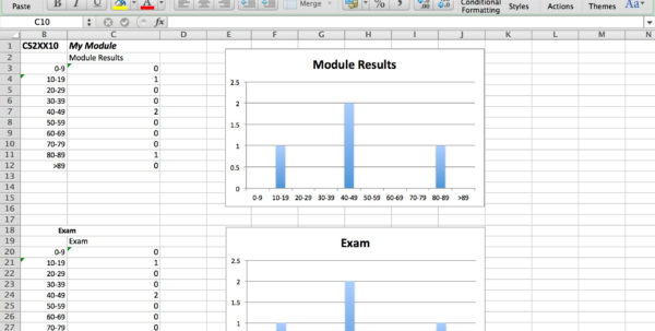 Spreadsheet Exam With Regard To Mfa Exam Templates