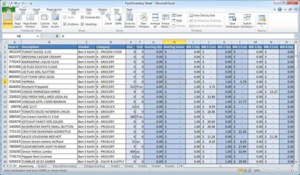 Spreadsheet Examples With Example Excel Inventory Tracking Spreadsheet And Example Of Excel