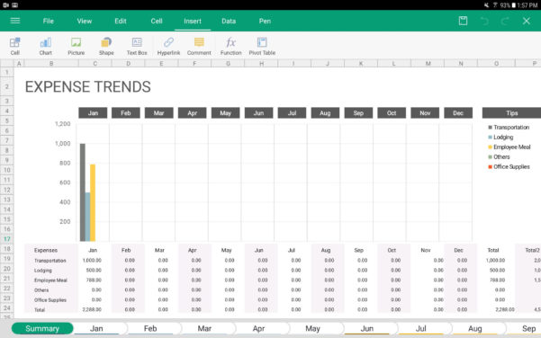 Spreadsheet For Android With The 5 Best Spreadsheet Apps For Android In 2019