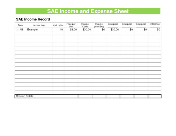 Spreadsheet For Bills And Income Throughout Expenses Sheet Template Pics Expense For Small Business Balance Free