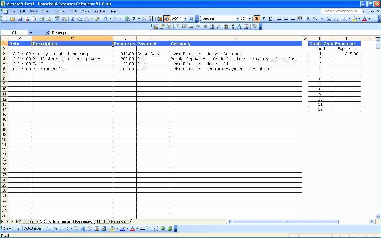 Spreadsheet For Business Expenses And Income Pertaining To Example Of Business Expenses Spreadsheet Income And Expense Sample
