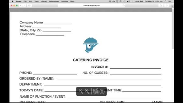 Spreadsheet For Catering Business In Catering Invoice Samples And 7 Free Invoices Template