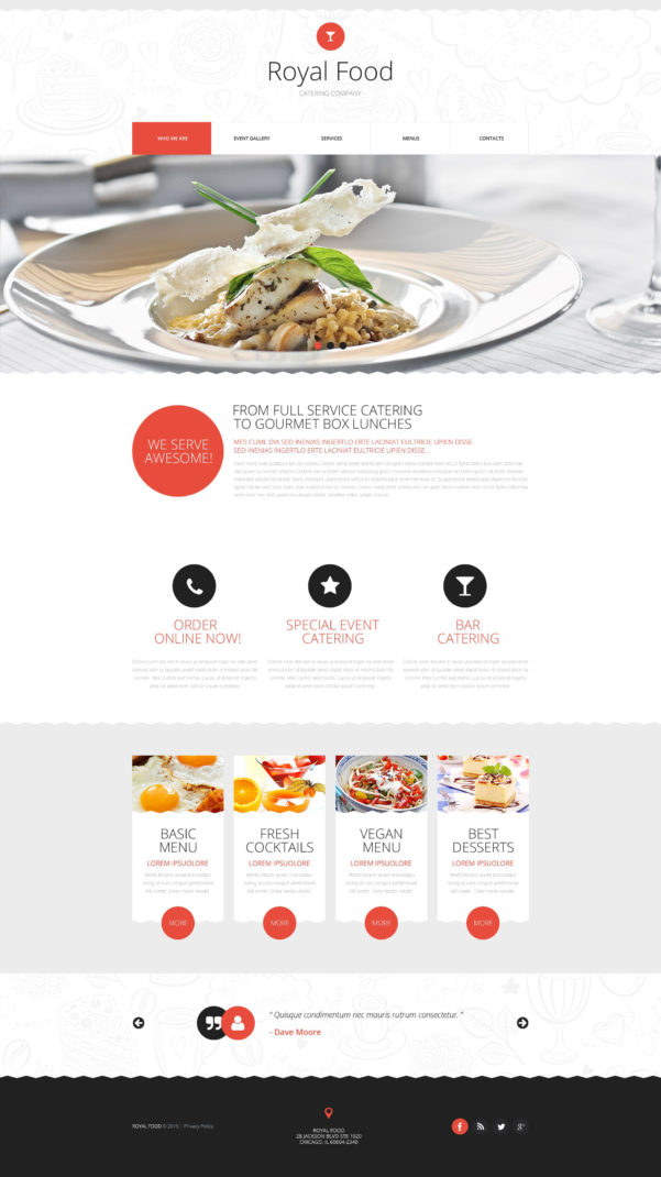 Spreadsheet For Catering Business Inside Catering Website Template