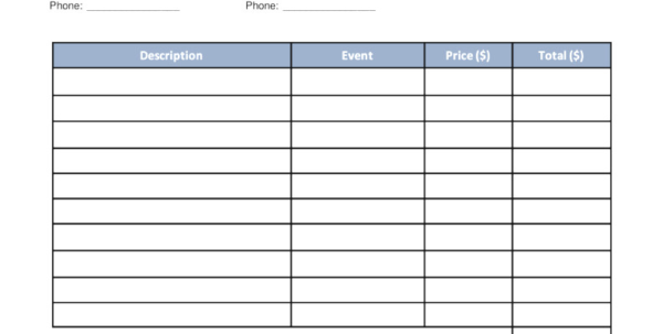 Spreadsheet For Catering Business Intended For Catering Invoice Template Filename  Colorium Laboratorium