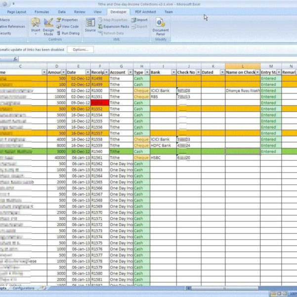 Spreadsheet For Church Offering Inside Church Tithes And Offerings Record Keeping  Laobingkaisuo In Church