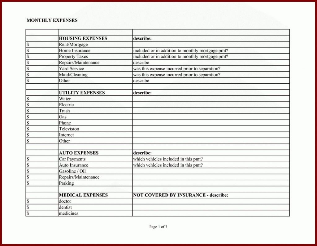Spreadsheet For Cleaning Business Inside Business Expense Report Template Excel Form Monthly Sample