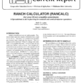 Spreadsheet For Cow Calf Operation With Regard To Ranch Calculator Rancalc For Lotus123 And Compatible