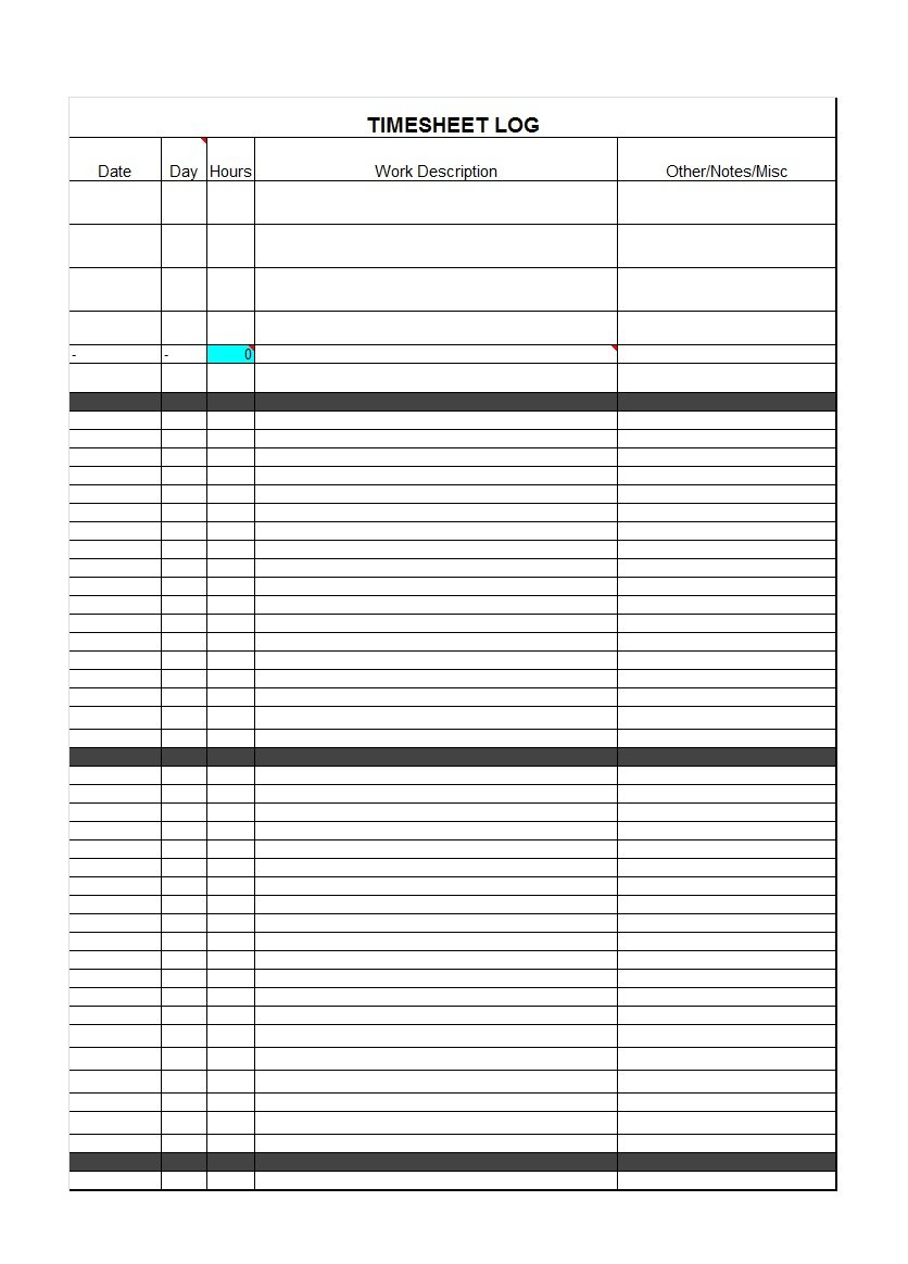 Spreadsheet For Employee Time Tracking For 40 Free Timesheet / Time Card Templates  Template Lab