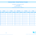 Spreadsheet For Employee Time Tracking Intended For Free Employee Timeacking Spreadsheet Weekly Timesheet Template For