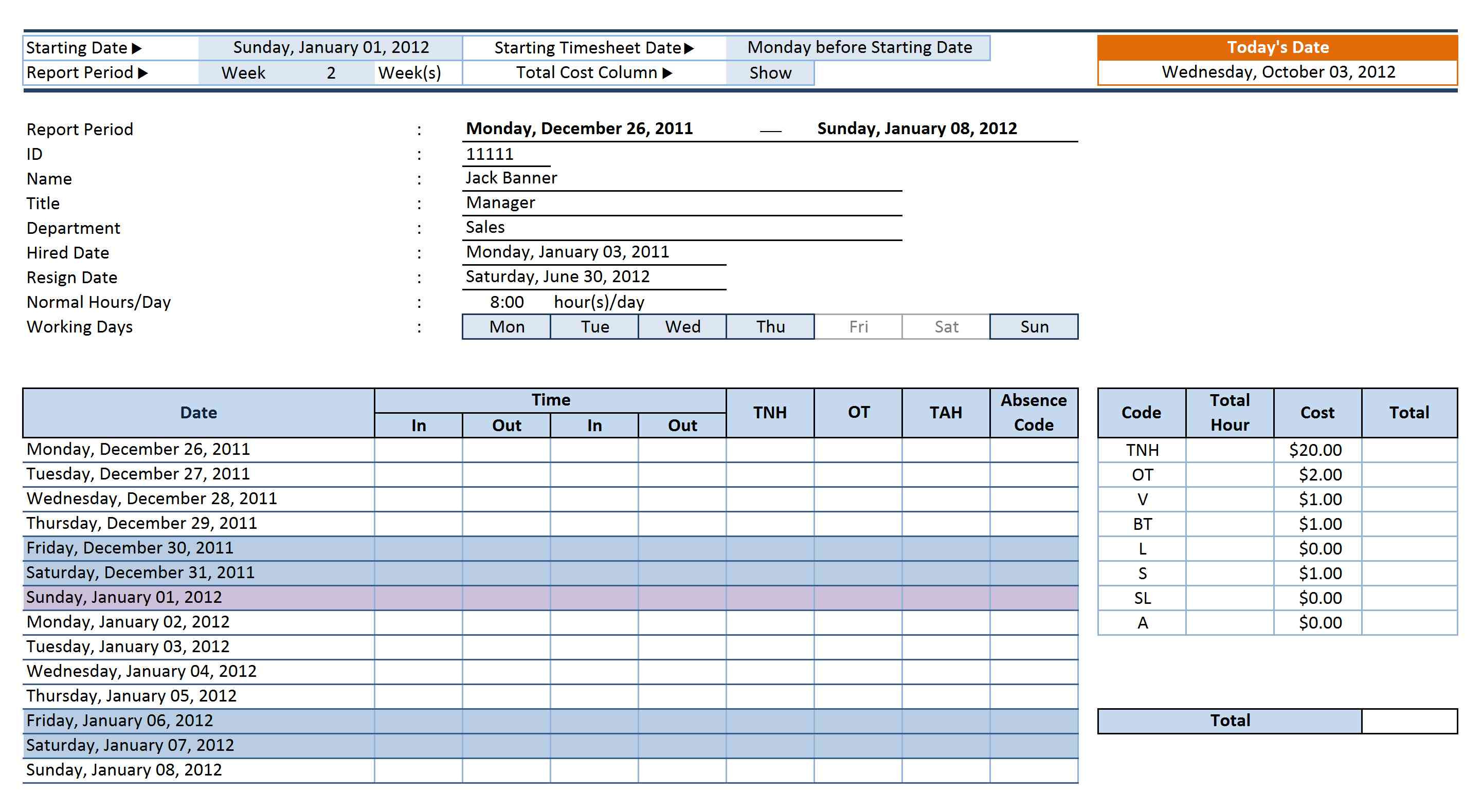 Spreadsheet For Employee Time Tracking Throughout Daily Time Tracking Spreadsheet  My Spreadsheet Templates