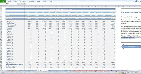 Spreadsheet For Hairdressers For Beauty Salon Budget Template  Cfotemplates