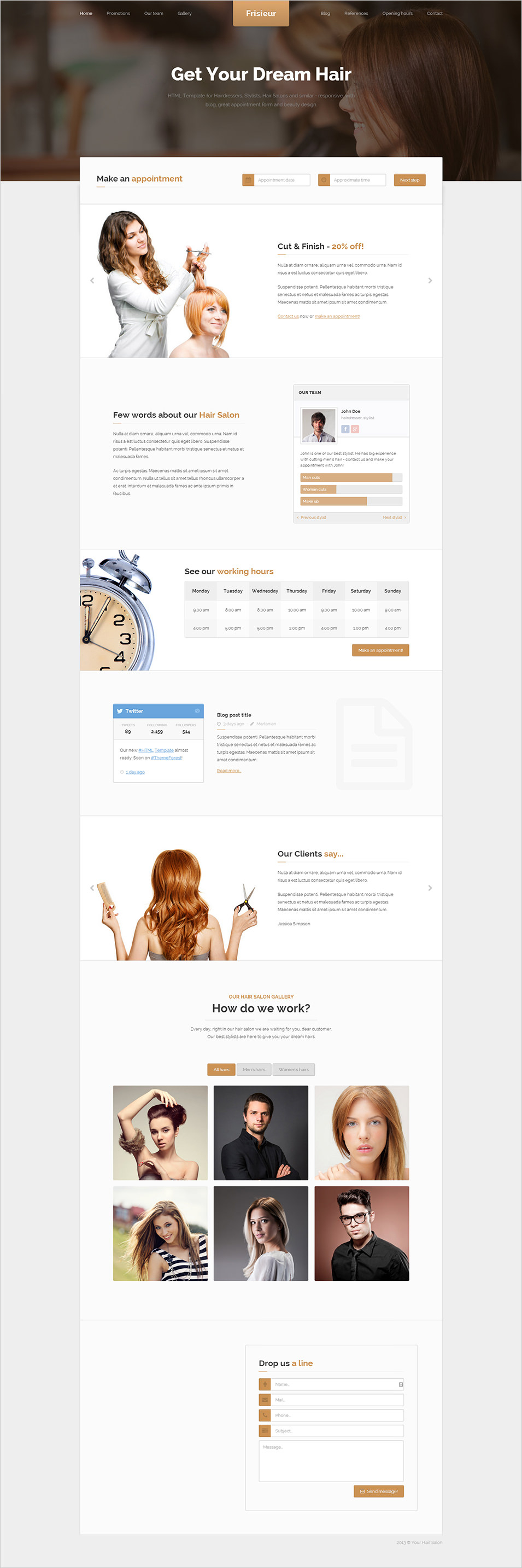 Spreadsheet For Hairdressers Within 18  Beauty Salon Website Templates  Free  Premium Templates