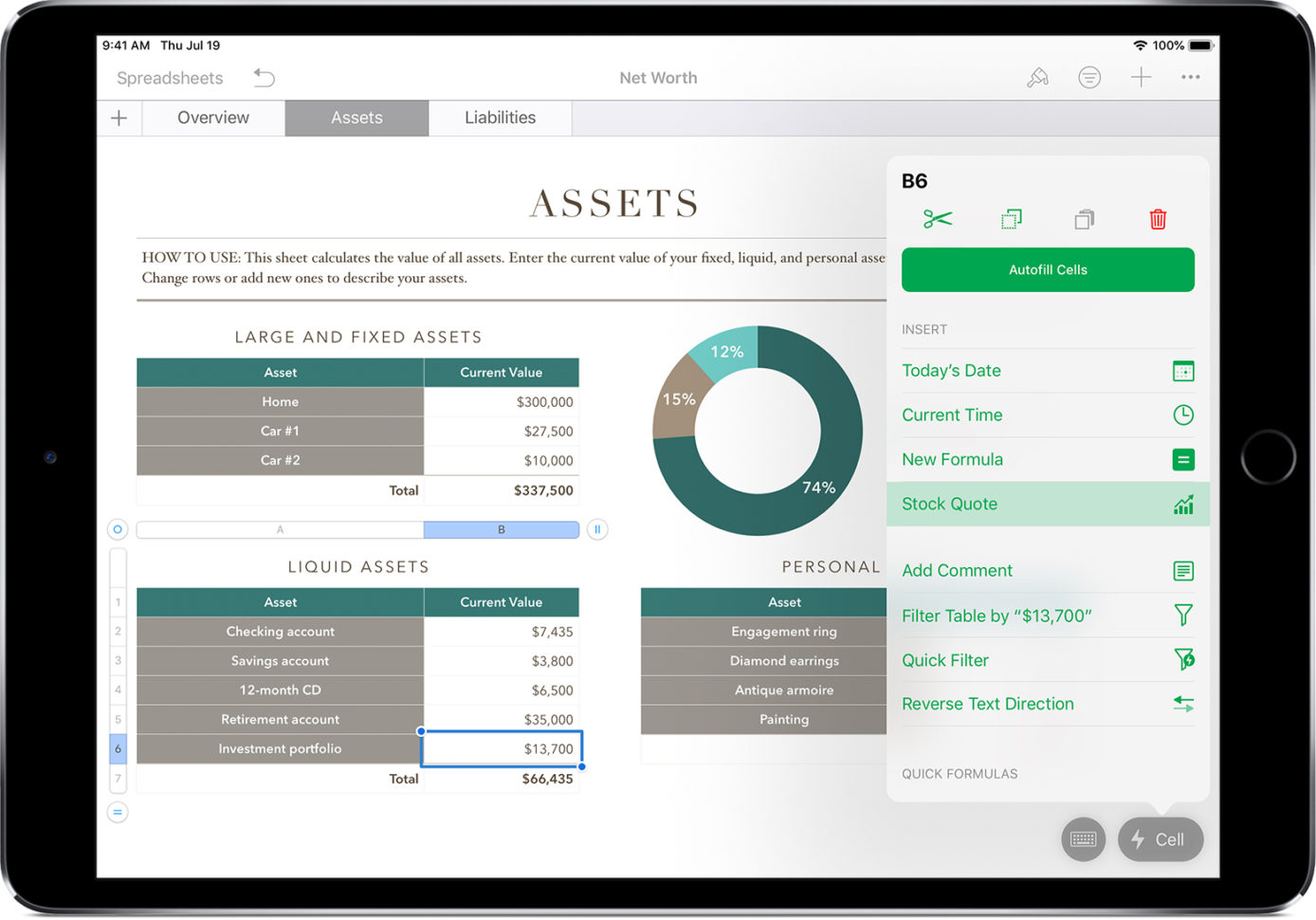 Spreadsheet For Ipad Pertaining To Add Current Stock Quotes And Currency Exchange Rates Into Your