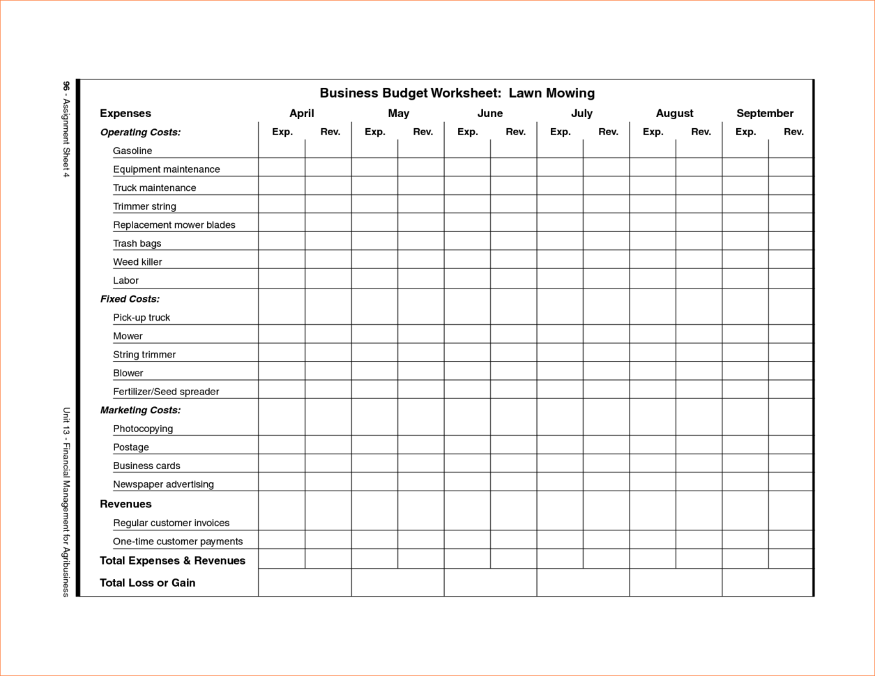 Spreadsheet For Lawn Mowing Business Download Throughout Lawn Care Schedule Spreadsheet – Komunstudio