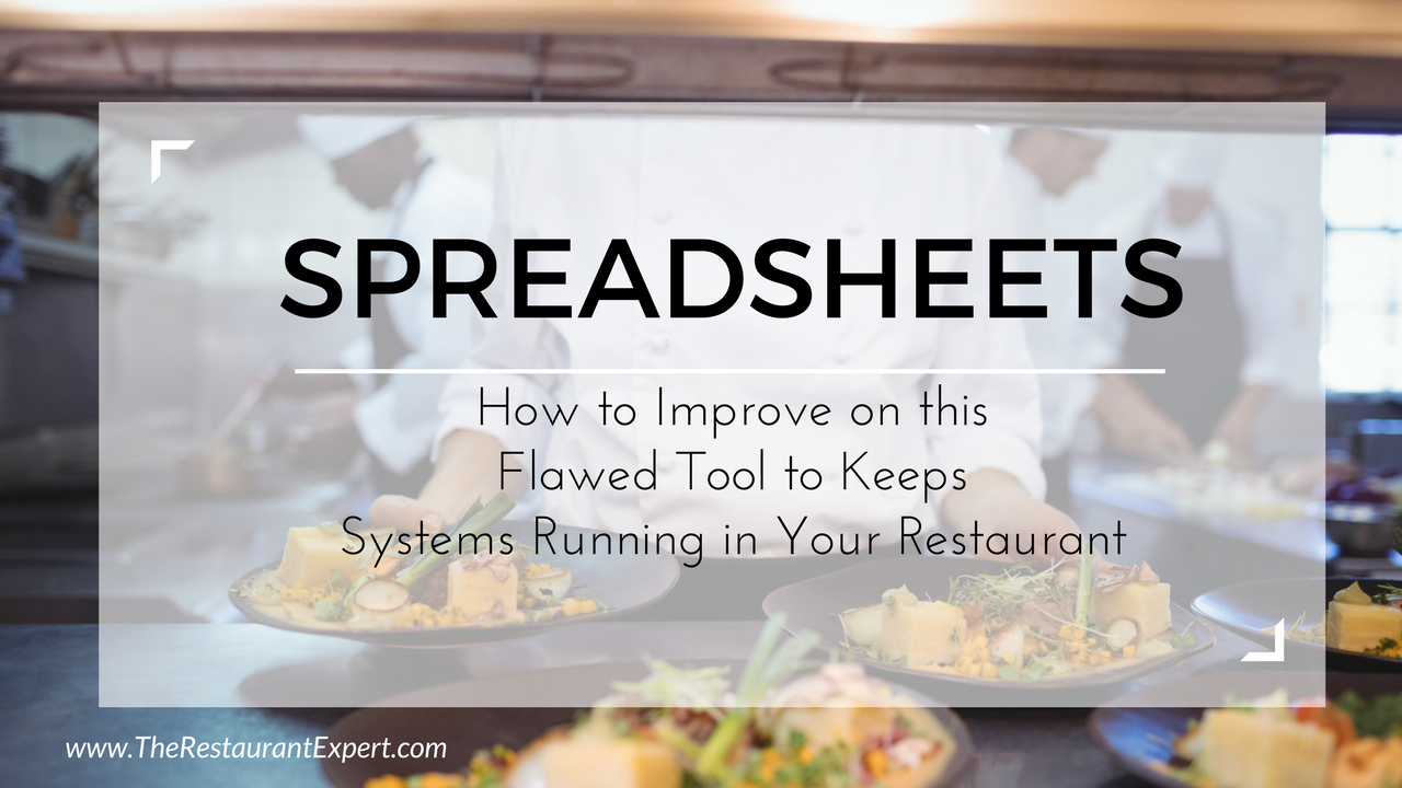 Spreadsheet For Restaurant Management Pertaining To Restaurant Spreadsheets Are Dead  The Restaurant Expert