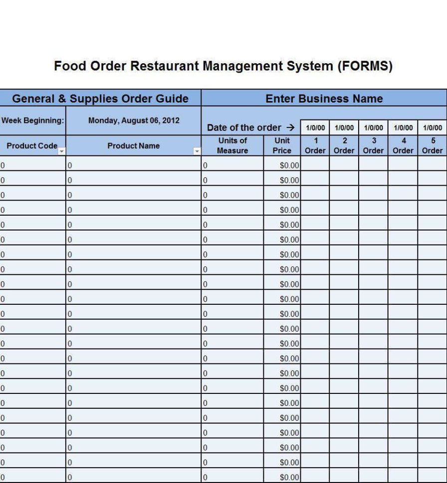 Spreadsheet For Restaurant Management Throughout Restaurant Inventory Management App Sample Sheet For Free