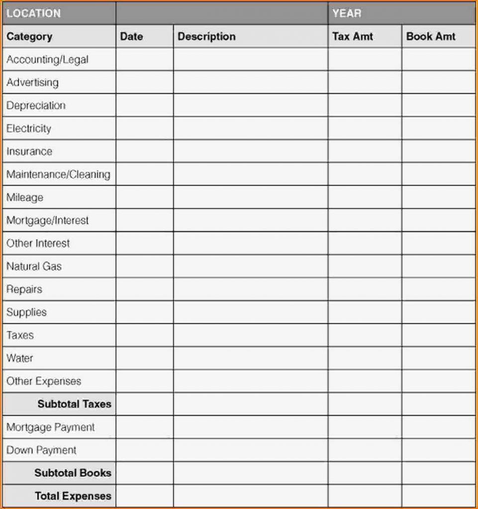 spreadsheet for tracking expenses for small businesses