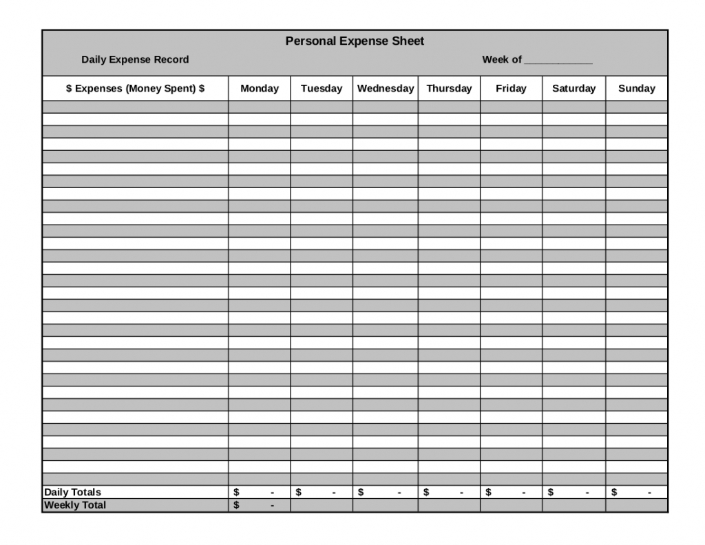 Spreadsheet Form With Business Expenses Form Template Travel Reimbursement Spreadsheet