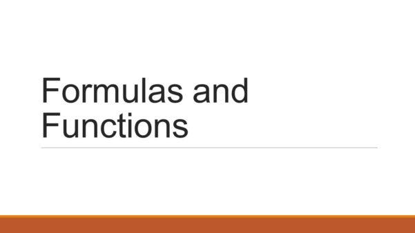 Spreadsheet Formulas And Functions Regarding Formulas And Functions. Type Data Into Spreadsheet ◦Open Excel