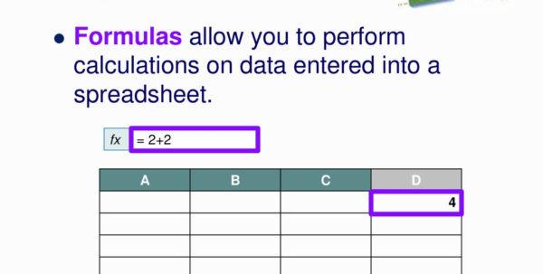Spreadsheet Formulas For Basic Spreadsheet Formulas  Ppt Download