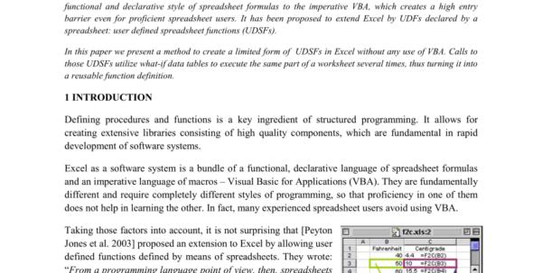 Spreadsheet Functions Intended For Pdf User Defined Spreadsheet Functions In Excel
