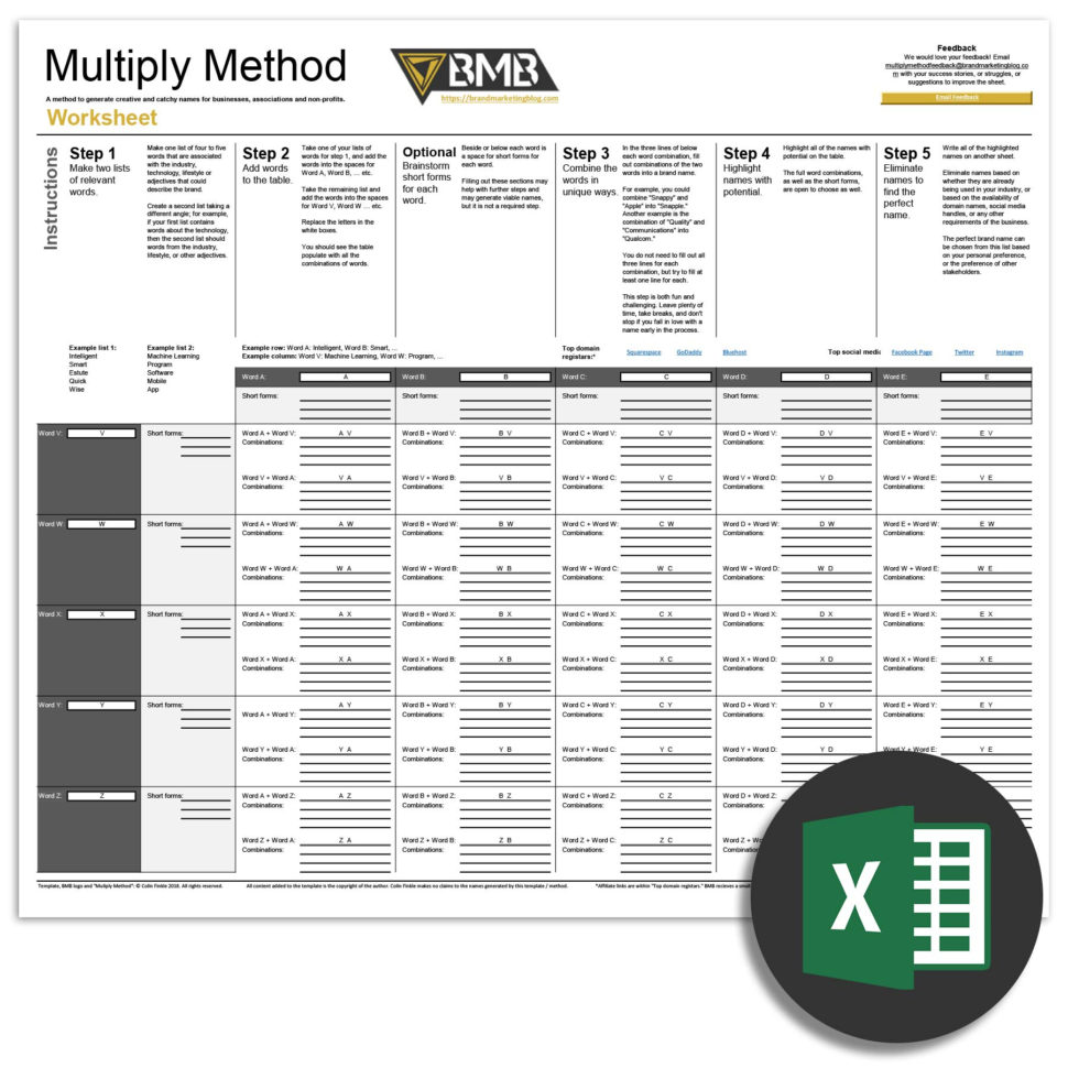 Spreadsheet Generator Inside Multiply Method Spreadsheet Excel – Bmb