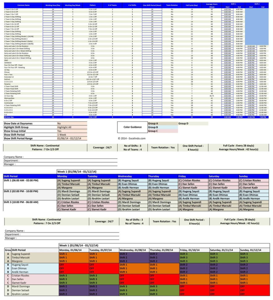 Spreadsheet Generator With Spreadsheet Employee Shift Schedule Generator Excel Templates