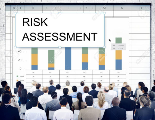 Spreadsheet Graph In Risk Assessment Graph Chart Spreadsheet Table Word Stock Photo
