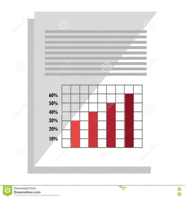Spreadsheet Graphics Inside Spreadsheet With Statistics Graphics Icon. Stock Vector