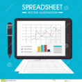 Spreadsheet Graphics Intended For Spreadsheet Design, Vector Illustration. Stock Vector  Illustration