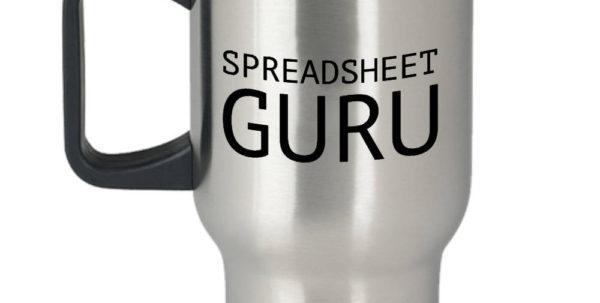 Spreadsheet Guru For Funny Accountant Travel Mug Accountant Gift Idea  Etsy