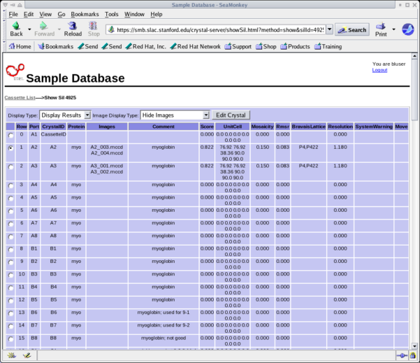 Spreadsheet Html Code Pertaining To Using The Ssrl Automated Mounting Sam System