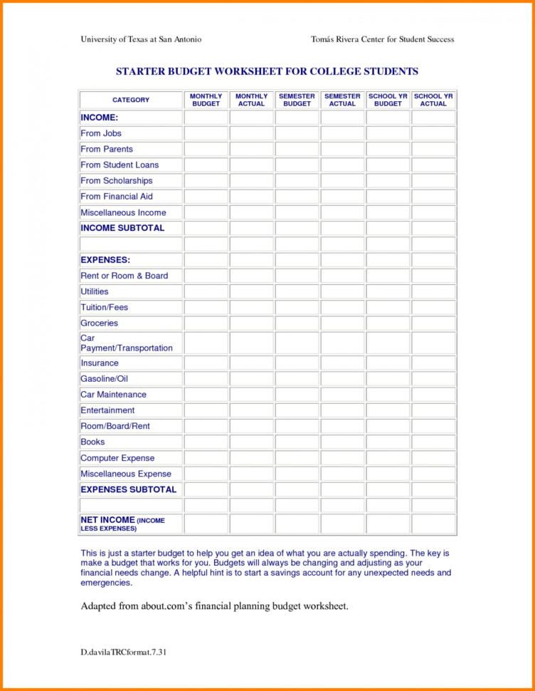 Spreadsheet Ideas For Students Within 006 Template Ideas College Student Budget Spreadsheet Example Google