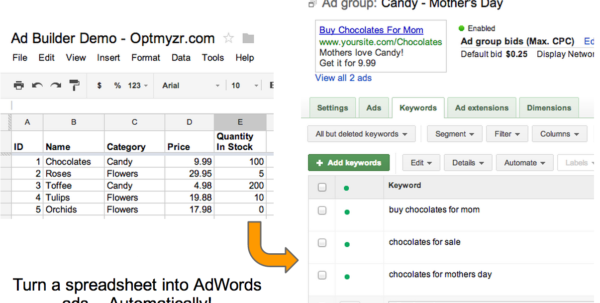 Spreadsheet Keywords Pertaining To Keywords  Optmyzr Adwords Scripts