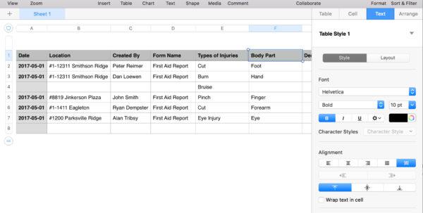 Spreadsheet Layout In Understanding Spreadsheet Layout – Sitedocs Help Center