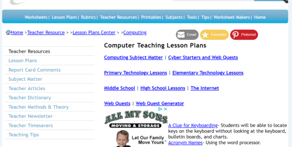 Spreadsheet Lesson Plans For Elementary In Lesson Plans For Teaching Students Microsoft Office