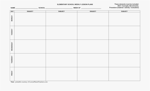 Spreadsheet Lesson Plans For Elementary With Regard To Spreadsheet This Template Provides Weekly For Managing Multiple