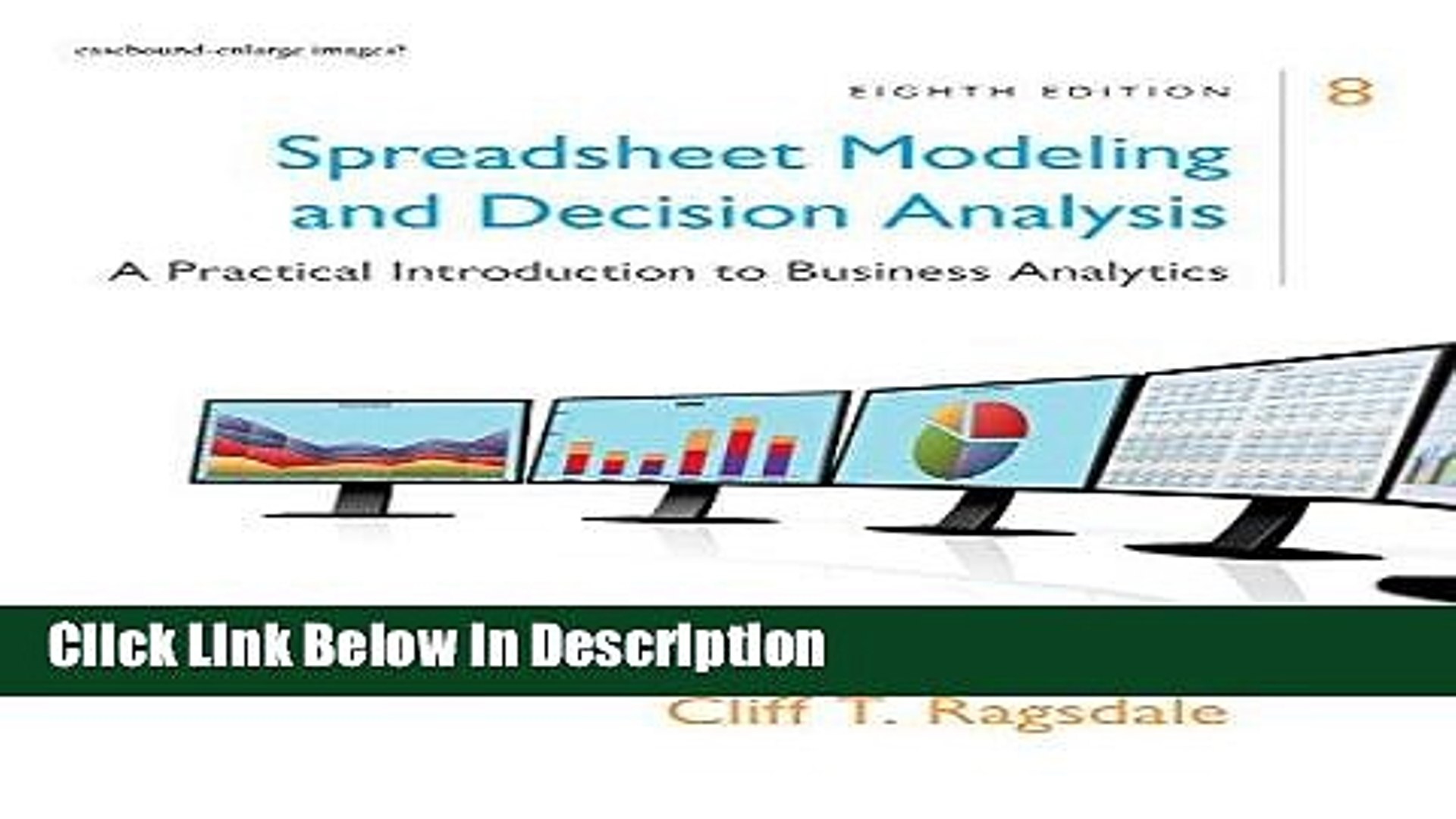 Spreadsheet Modeling & Decision Analysis 8Th Edition Regarding Download] Spreadsheet Modeling Decision Analysis: A Practical