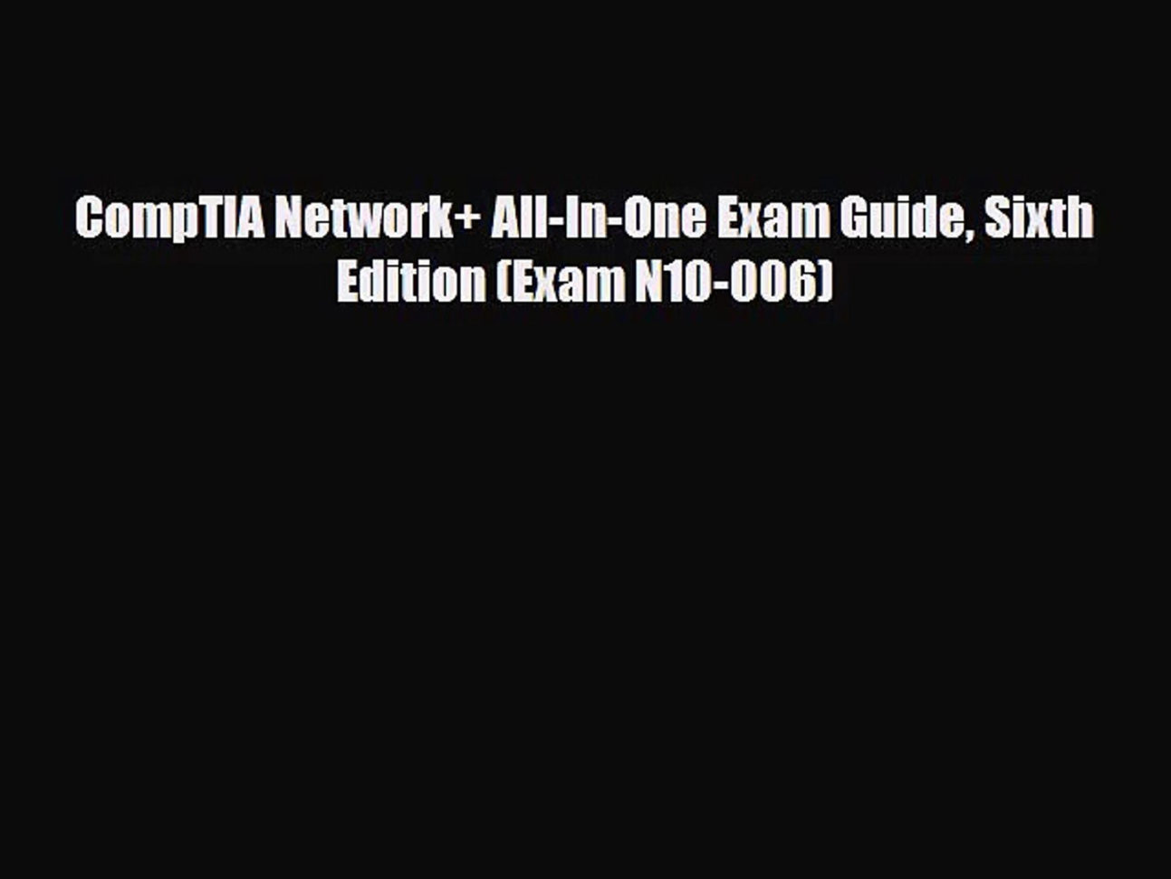 Spreadsheet Modeling And Decision Analysis 6Th Edition Pdf Inside Pdf Download] Comptia Network  Allinone Exam Guide Sixth Edition