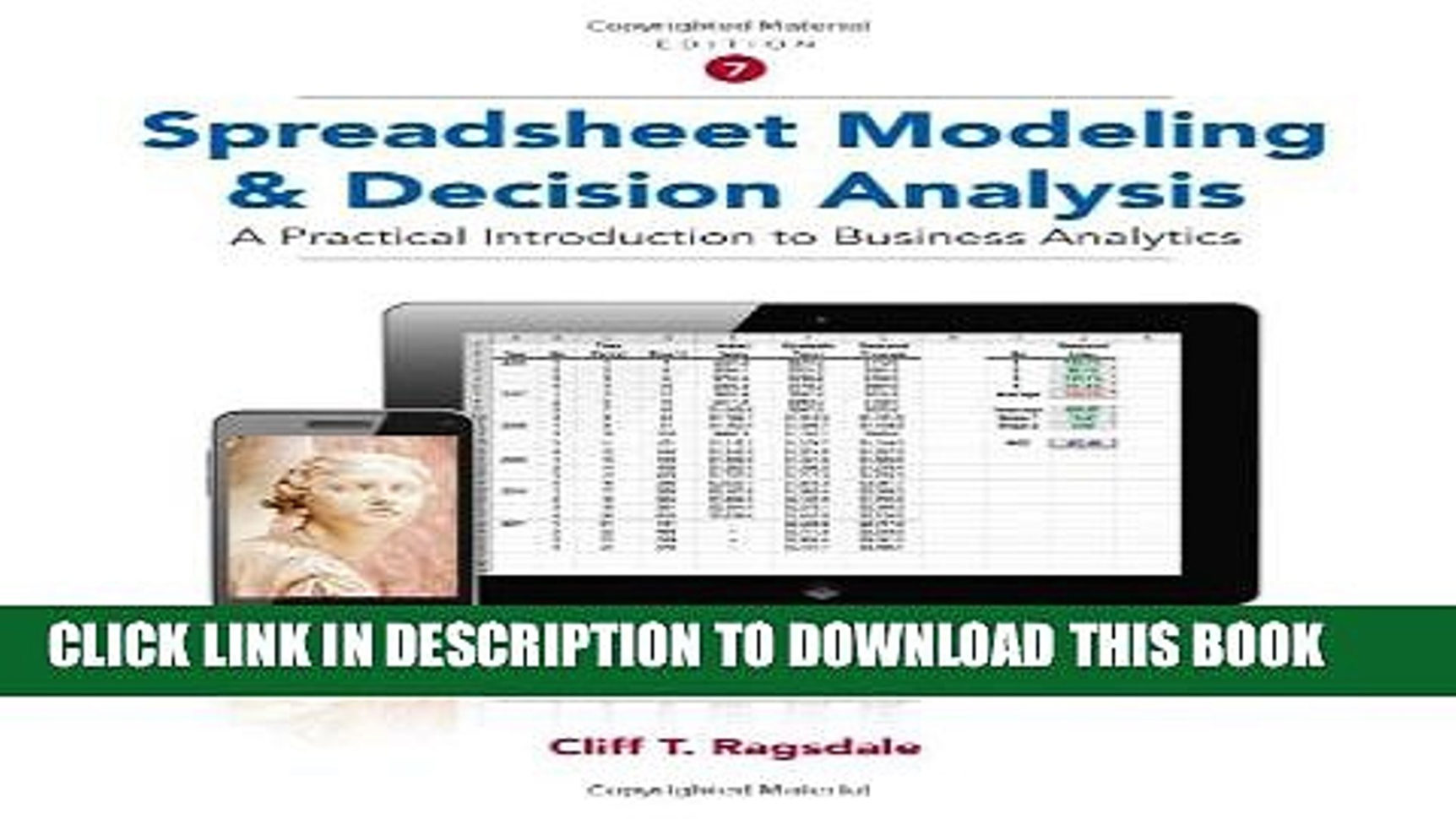Spreadsheet Modeling And Decision Analysis 8Th Edition Solutions For Spreadsheet Modeling And Decision Analysis How To Make A Spreadsheet