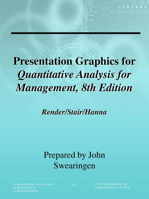 Spreadsheet Modeling And Decision Analysis 8Th Edition Solutions Within Preparedjohn Swearingen  Ppt Download