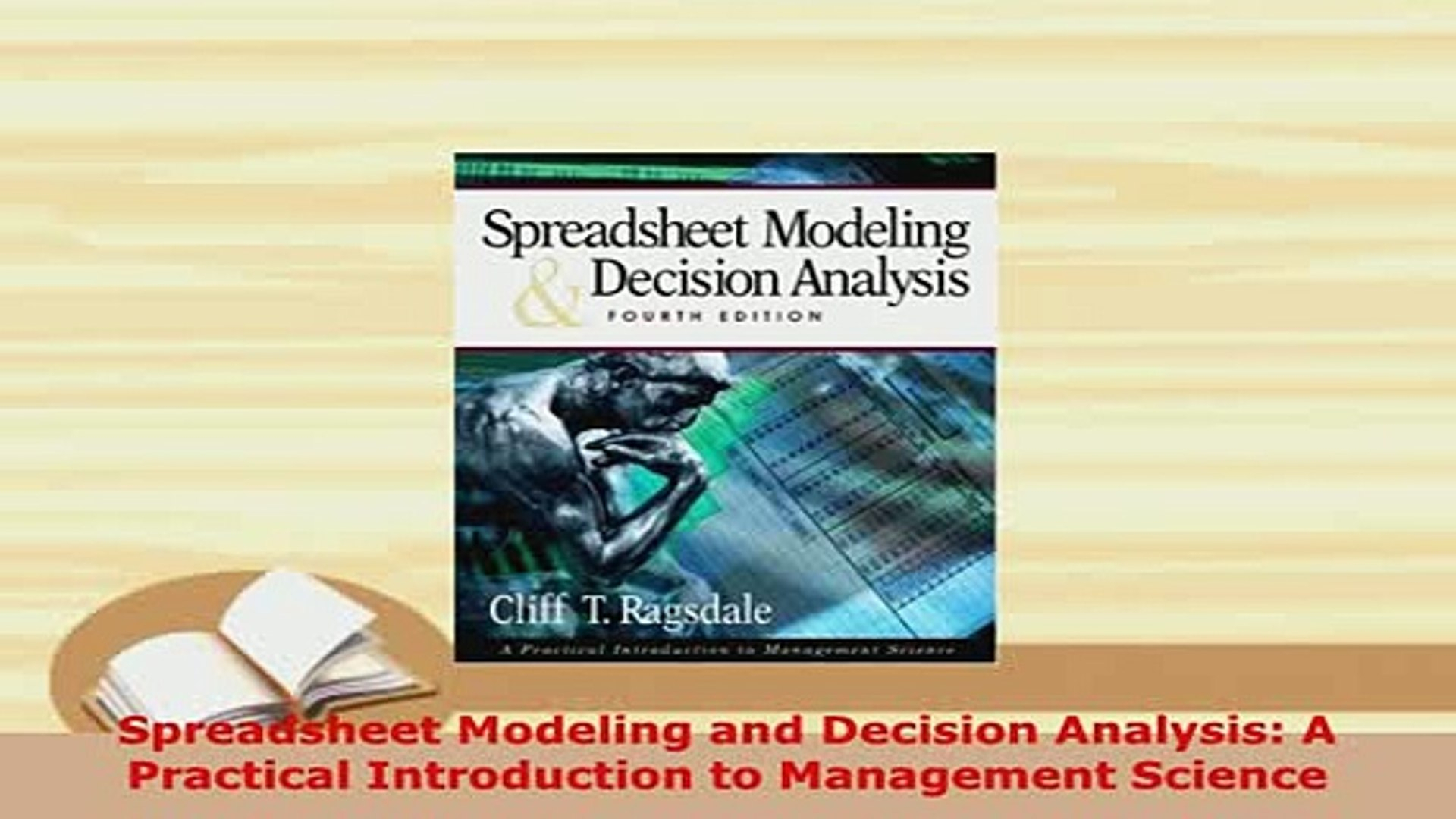 Spreadsheet Modeling And Decision Analysis Ebook Throughout Pdf Spreadsheet Modeling And Decision Analysis A Practical