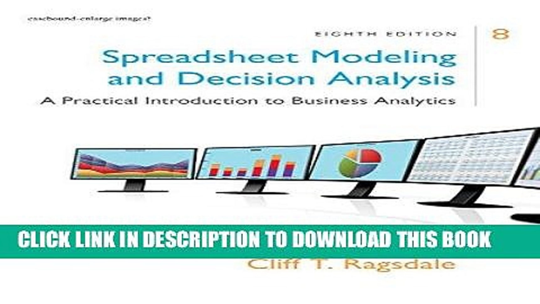 Spreadsheet Modeling And Decision Analysis Intended For Pdf] Spreadsheet Modeling Decision Analysis: A Practical
