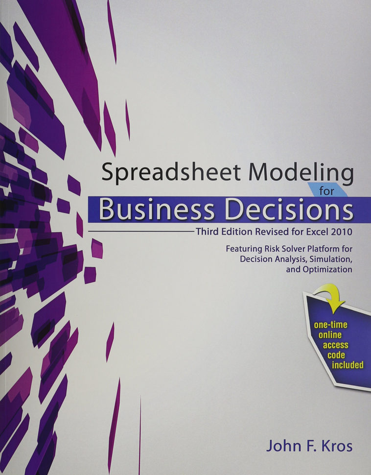 Spreadsheet Modeling And Decision Analysis Pdf 7Th Edition Throughout Spreadsheet Modeling For Business Decisions 5Th Edition Ebook 3Rd