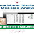 Spreadsheet Modeling And Decision Analysis Within Pdf] Spreadsheet Modeling And Decision Analysis: A Practical