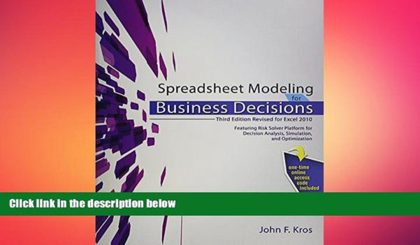 Spreadsheet Modeling For Business Decisions 3Rd Edition With Free Download Spreadsheet Modeling For Business Decisions Book